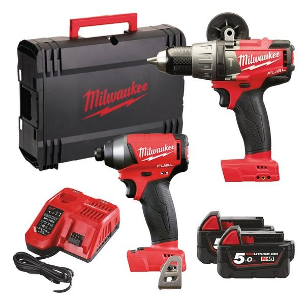 Milwaukee M18Fpp2A-502X 18V Fuel Twin Packs