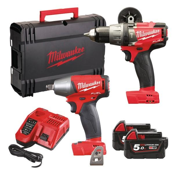 Milwaukee M18Fpp2B-502X 18V Fuel Twin Packs