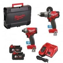 Milwaukee M18Onepp2A-502X 18V Combi Drill and Impact Driver