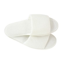 White Towelling Slippers