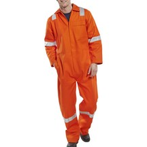 Beeswift Nordic Cfrbsnd Design Fire Retardent Boilersuit - Orange