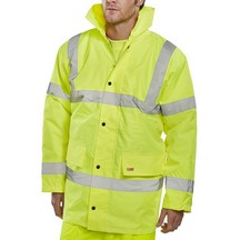 Briggs Hi Vis Contractor Jacket - Yellow