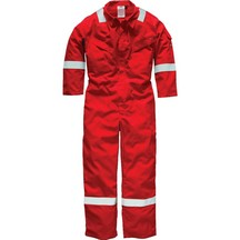 Dickies Fr5402 Pyrovatex Boilersuit - Red