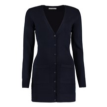 Kustom Kit Ladies Kk359 Long Line Cardigan - Navy