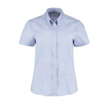 Kustom Kit Ladies Kk701 Oxford Shirt Short Sleeve - Blue