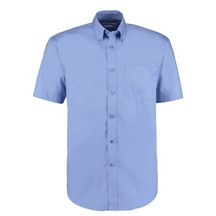Kustom Kit Premium Kk109 Oxford Shirt Short Sleeve - Blue
