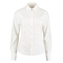 Ladies Oxford Shirt L/Sleeve White