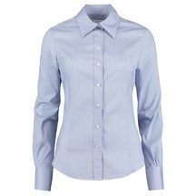 Ladies Oxford Shirt Long Sleeve Blue