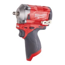 Milwaukee M12Fiw38-0 12V Stubby 3/8In Impact Wrench - Body Only
